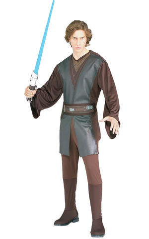 Anakin Skywalker Fancy Dress Costume Star Wars Ep 3 Outfit Mens Male Std Or XL