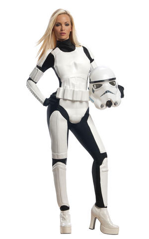 Female Storm Trooper Fancy Dress Costume Outfit Adult Womens Ladies UK 6-18