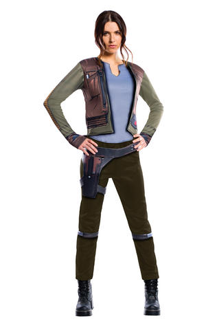Jyn Erso Rogue One Fancy Dress Costume Outfit Star Wars Womens Ladies UK 8-18