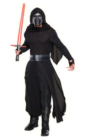Deluxe Kylo Ren Fancy Dress Costume Star Wars Outfit Adult Mens Male Std Or XL