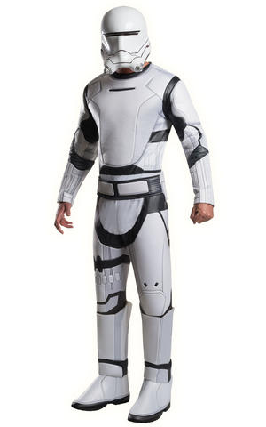 Deluxe Flametrooper Fancy Dress Costume Star Wars Outfit Mens Male Std Or XL