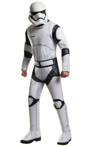 Deluxe Stormtrooper Fancy Dress Costume Star Wars Outfit Mens Male Std Or XL