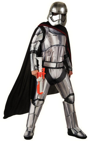 Deluxe Captain Phasma Fancy Dress Costume Outfit Star Wars Mens Male Std Or XL