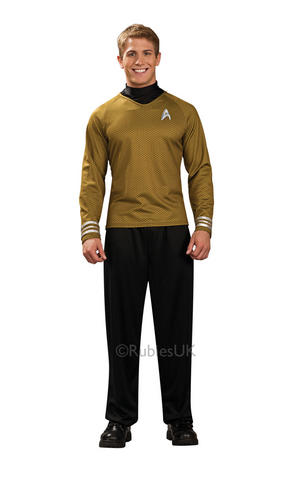Captain Kirk Fancy Dress Costume Star Trek Cosplay Outfit Adult Mens Male S - XL