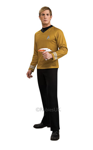 Dlx Captain Kirk Fancy Dress Costume Star Trek Cosplay Outfit Mens Male S To XL