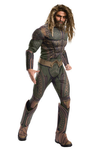 Deluxe Aquaman Fancy Dress Costume Cosplay Outfit Adult Mens Male Std Or XL