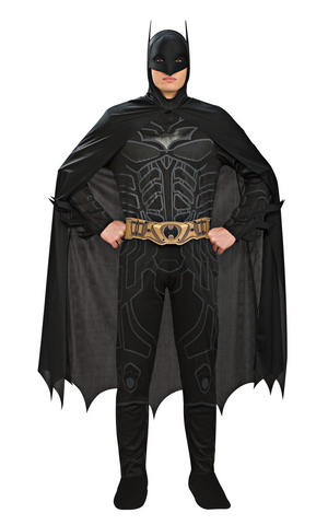 Batman Fancy Dress Costume Halloween Cosplay Outfit Adult Mens Male M To XL