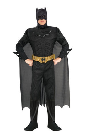 Deluxe Batman Fancy Dress Costume Cosplay Outfit Adult Mens Male M To XL