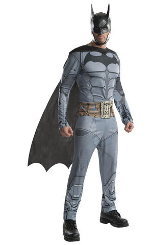 Batman Fancy Dress Costume Halloween Cosplay Outfit Adult Mens Male S To XL