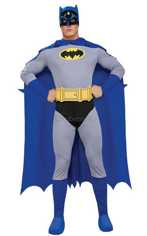Batman Cosplay Halloween Fancy Dress Costume Outfit Adult Mens Male S To L