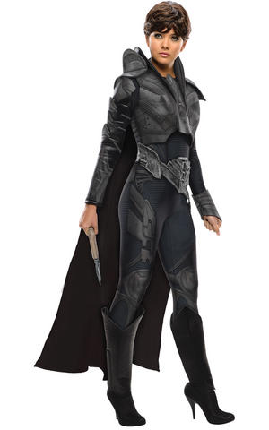 Faora Fancy Dress Costume Outfit Cosplay Superman Womens Ladies UK 6-18