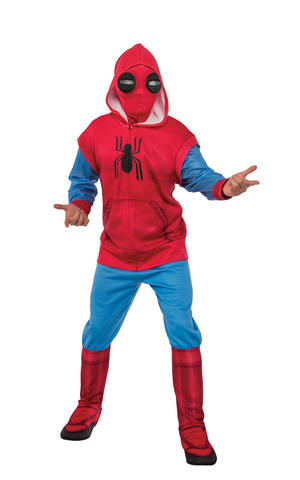 Deluxe Sweats Spiderman Fancy Dress Costume Outfit Adult Mens Male Std Or XL