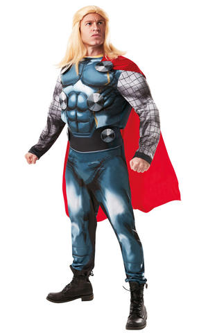 Deluxe Thor Fancy Dress Costume Outfit Avengers Cosplay Mens Male Std Or XL