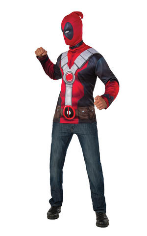 Deadpool Costume Top Fancy Dress Costume Outfit Adult Mens Male Std Or XL
