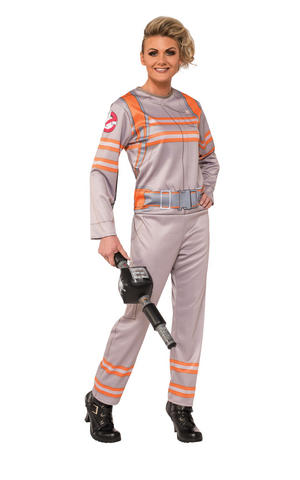 Ghostbusters Jumpsuit Fancy Dress Costume Outfit Ladies Womens UK Dress 8-18