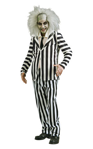 Beetlejuice Halloween Cosplay Fancy Dress Costume Outfit Mens Male Std Or XL