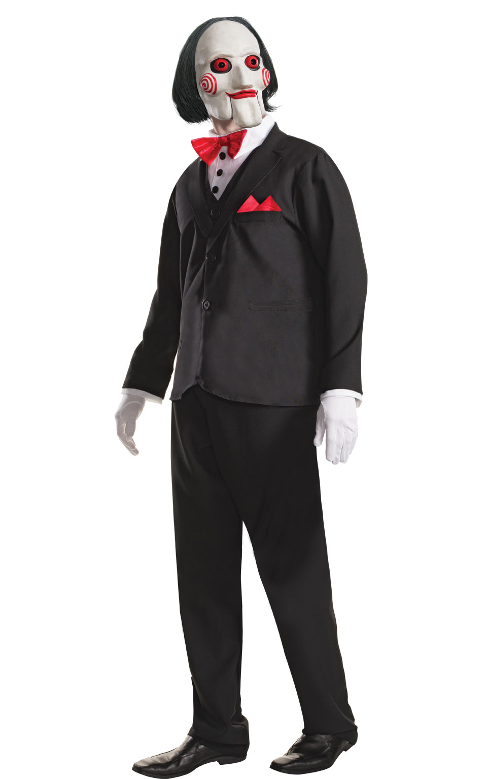 Billy Puppet Fancy Dress Costume Outfit Saw Jigsaw Halloween Mens Std Or XL