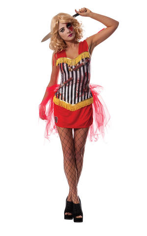 Circus Assistant Fancy Dress Costume Outfit Halloween Womens Ladies UK 8-18