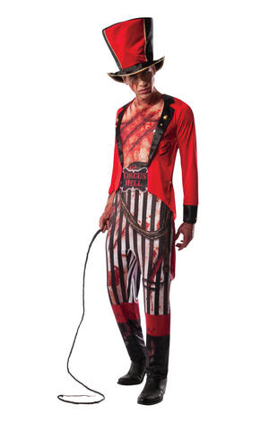 Circus Ring Master Lion Tamer Halloweend Fancy Dress Costume Mens Male Std Or XL