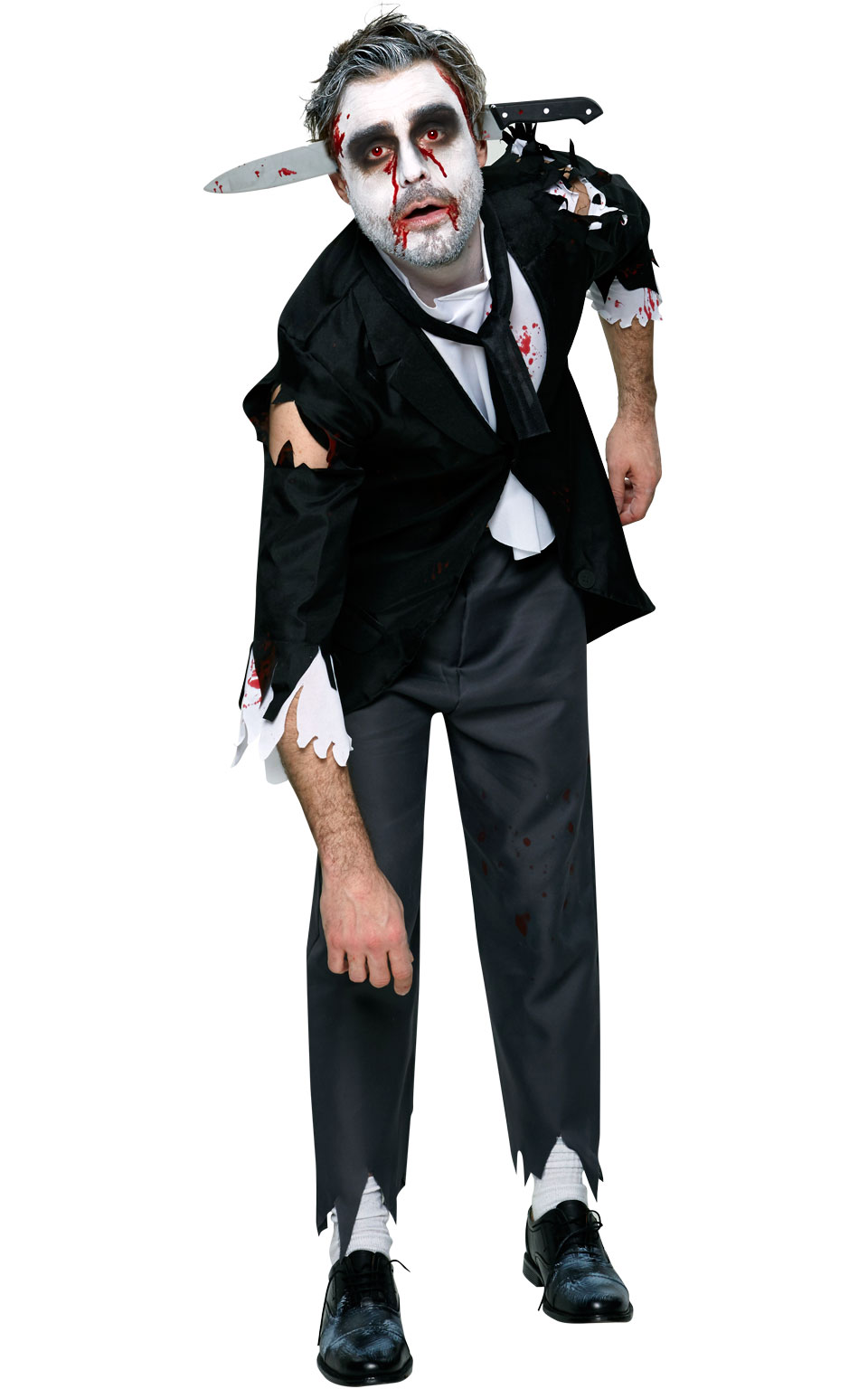 bloody butler fancy dress costume outfit halloween zombie mens male