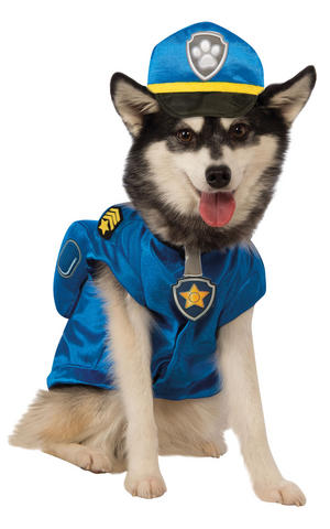 Chase Paw Patrol Police Fancy Dress Costume Outfit Dog Pet Animal S To XL