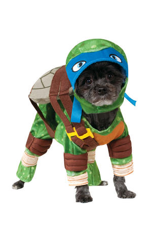 Rubies Leonardo Pet Fancy Dress Costume Outfit Dog Pet Animal TMNT S To XL