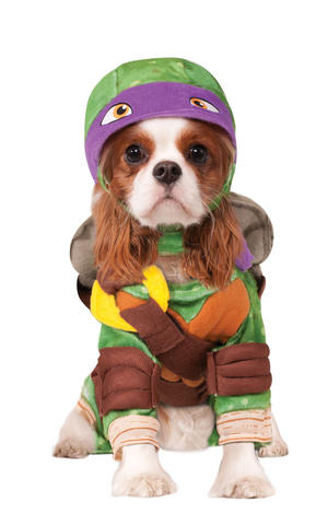 Donatello Fancy Dress Costume Outfit TMNT Turtles Halloween Dog Pet S To XL