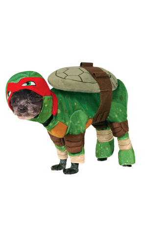 Raphael Fancy Dress Costume Outfit Dog Pet Animal TMNT Turtles Halloween S To XL