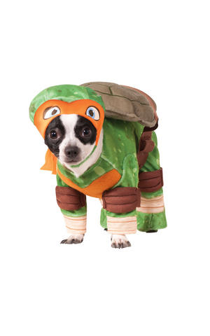 Michelangelo Fancy Dress Costume Outfit Dog Pet TMNT Turtles Halloween S To XL