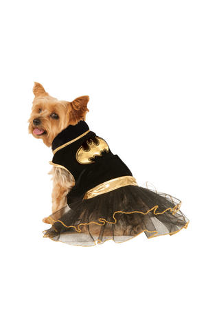 Batgirl Tutu Dress Fancy Dress Costume Outfit Dog Halloween Batman Pet Xs To XL