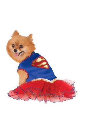 Supergirl Tutu Dress Fancy Dress Costume Outfit Dog Superman Pet Animal Xs To XL