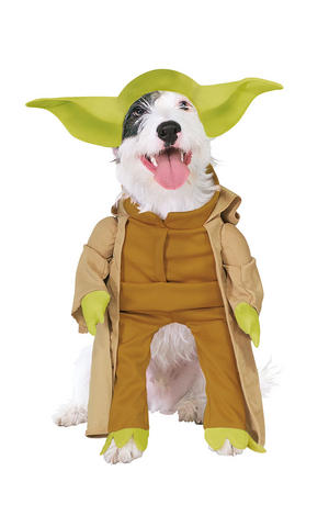 Yoda Fancy Dress Costume Star Wars Outfit Halloween Dog Pet Animal S To XL