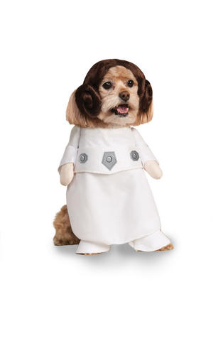 Princess Leia Fancy Dress Costume Star Wars Halloween Outfit Dog Pet S To XL