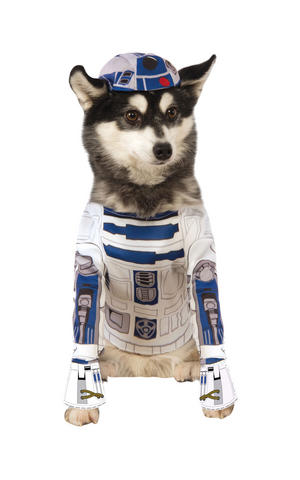 R2-D2 Fancy Dress Costume Star Wars Robot Outfit Dog Pet Animal S To XL