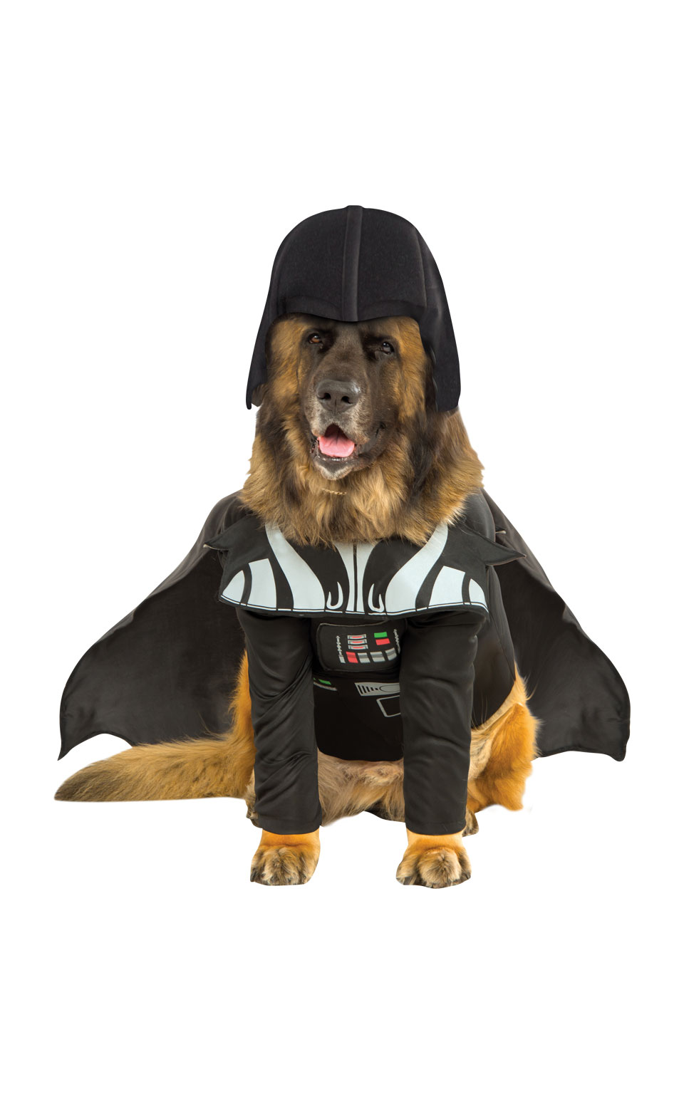 Darth Vader Fancy Dress Costume Outfit Dog Halloween Star Wars Pet Animal S-3XL