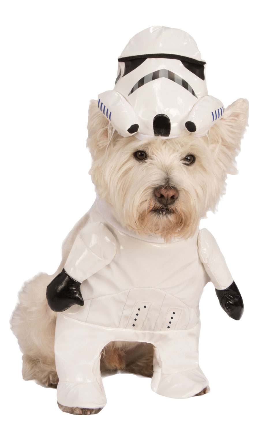 Marching Storm Trooper Fancy Dress Costume Outfit Star Wars Dog Pet S To XL