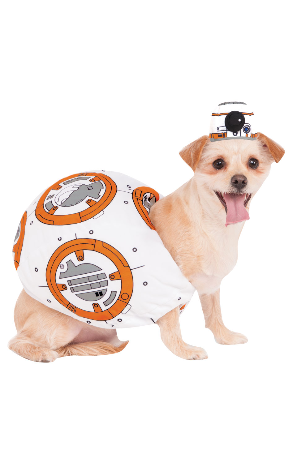 BB-8 Fancy Dress Costume Outfit Dog Star Wars Halloween Pet Animal Xs To XL