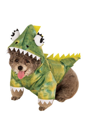 Dinosaur Green Lizzard Halloween Fancy Dress Costume Outfit Dog Pet S To XL