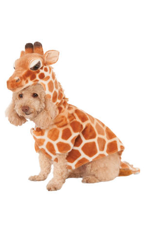 Rubies Giraffe Fancy Dress Costume Outfit Dog Pet Animal Xs To L
