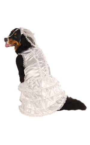 Rubies Bride Fancy Dress Costume Outfit Dog Wedding Day Pet Animal S To XxXL