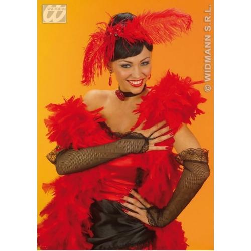 33cm Long Black Saloon Girl Western Fancy Dress Costume Accessory
