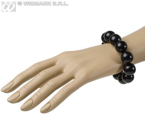 Ladies 70s Beaded Bracelet Fancy Dress Costume Jewellery