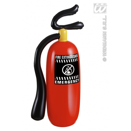 Large Red Inflatable Fire Extinguisher 50cm Tall Fire Man Fancy Dress Prop