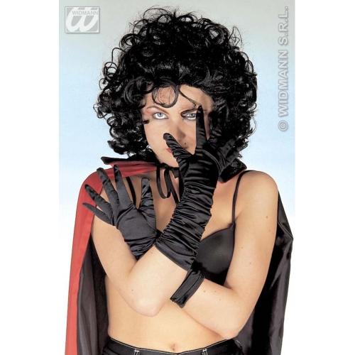 Ladies Satin Black Gloves For Performing Burlesque Dancing Fancy Dress Flapper