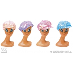 Pearl Coloured Fashion Hat Berret Fancy Dress Disco Diva Prop Cap