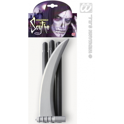 Collapsible Scythes 101Cm Grim Reaper Ghost Halloween Fancy Dress Accessory