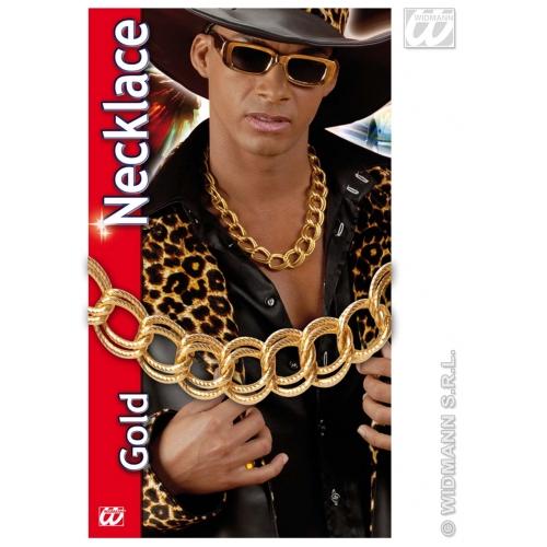 Gold Chunky Necklace 60Cm Pimp Gangster Big Daddy Fancy Dress Accessory