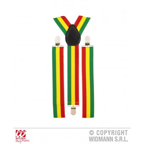 Jamaica Jamaican Mens Womens Braces Fancy Dress Costume Suspenders