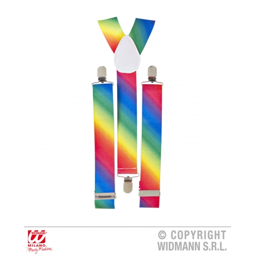 Gay Pride Rainbow Mens Womens Braces Fancy Dress Costume Suspenders