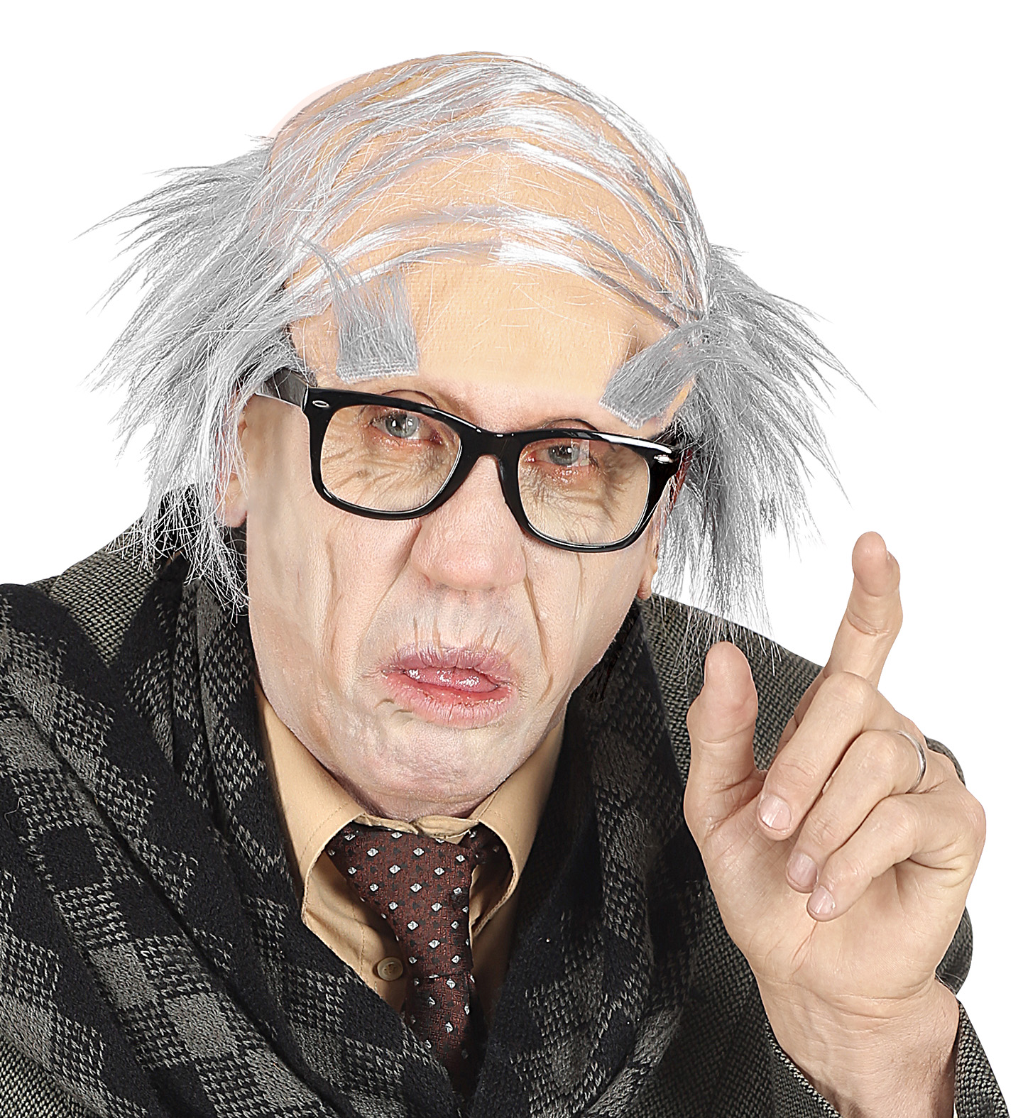 OLD MAN COMB OVER HEADPIECE w// EYEBROWS Accessory Wig Old People Fancy Dress